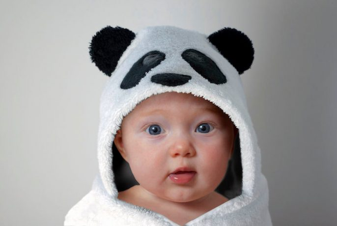 Panda bear serviette